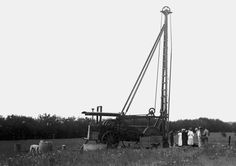 Cable Tool Rig 1903 Oklahoma Indian Territory This old cable tool Spudder was used to drill an early Oklahoma well