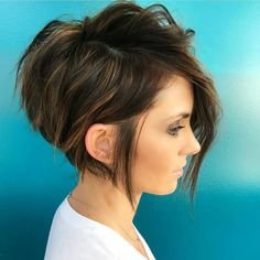 The long pixie cut is a great way to take your short hair to the next level. Its variants suit different face shapes, hair types, and personalities. Check out the best long pixie haircut ideas in pictures to get inspired! Short Asymmetrical Haircut, Edgy Short Haircuts, Cute Hairstyles For Short Hair, Hairstyles Haircuts, Curly Hair Styles, Short Hair Cuts For Women Edgy, Gorgeous Hairstyles, Haircut Short, Hair Cut Styles