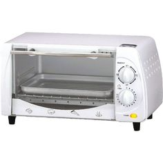 Brentwood 4-slice Toaster Oven Housing & Front Panel & Glass Holders Stainless Steel Straight Handle Black Knob & Foot 3-pin Polarized 150-450f Temperature Control 15-minute Timer With Stay-on 2pcs Quartz Heating Element Zinc-coated Chamber Includes Food Tray & Wire Rack 700 Watts Approval Code: Cetl White #mycustommade