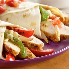 Tonight's dinner - Chicken Fajitas.