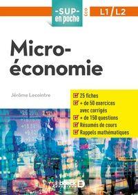 Microeconomie L1 L2 Jerome Lecointre Microeconomie Liseuse Electronique Livre Numerique