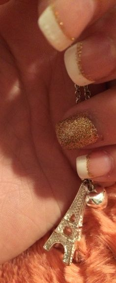 Beautiful gold French tips