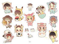 EXO cute animals