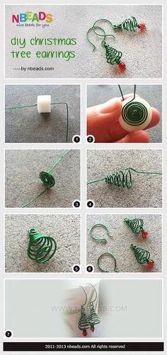 DIY Christmas Tree Earrings – Nbeads