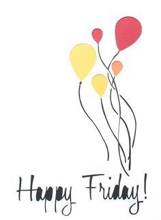 happy friday balloons