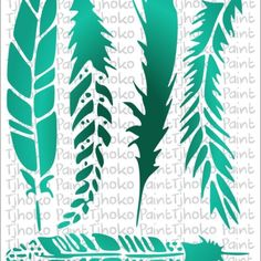 Feathers A5-24 Paint Paint, A5, Feathers, Stencils, Painting, Painting Art, Paintings, Templates, Stenciling