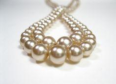 Double Strand 1940's Pearl Necklace Wedding by jewelrybyNaLa,