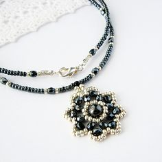 Magnetic Hematite Flower Blossom Necklace | The necklace mea… | Flickr