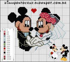 Dinha Ponto Cruz: Gráficos da Turma do Mickey ponto cruz