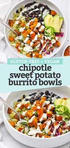 Vegan Dinner Recipes, Veggie Recipes, Mexican Food Recipes, Whole Food Recipes, Diet Recipes, Cooking Recipes, Sweet Potato Recipes Healthy, Vegan Recipes With Black Beans, Healthy Black Bean Recipes