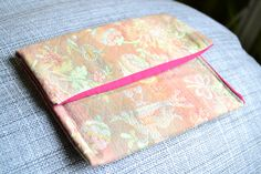 handmade briefcase (outside: gobelin tapestry on the contrary, inside: fuchsia fabric)