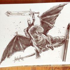 Which King? Of Angmar.  #characterdesign #inking #augustinks #artemscribendi #artemscribendiholder #DRAWorDIE #drawventure #lotr #inkwash #sketching #dailydraw
