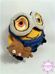 Minion Bob amigurumi