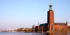 The Stockholm City Hall - Berloga-workshop Visit Stockholm, Stockholm City, Stockholm Sweden, Vasa Museum, Brick Construction, Luxury Restaurant, City Architecture, Brickwork, New City