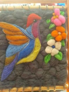 Felt Art, Needle Felting, Fiber Art, Diy And Crafts, Mandala, Weaving, Textiles, Tapestry, Rugs