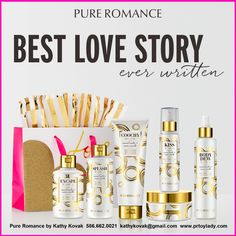 This Valentine's Day, spoil yourself with Pure Romance's newest scent, Love Story. Escape in a Nicholas Sparks novel and a relaxing bubble bath–or get sexy, smooth skin your prince charming will love! Happily ever after begins with Pure Romance! Write the pages to your own love story. Contact me today! 586.662.0021 #PureRomancebyKathy #PRbyKathy #PureRomance #ValentinesDay #LoveStory #Coochy #BodyDew #Kiss #Splash #BodySilk #Excape #PRToyLady