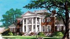 House Plan 86337 | Colonial   Plantation   Southern    Plan with 10735 Sq. Ft., 6 Bedrooms, 9 Bathrooms, 3 Car Garage