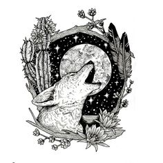 Coyote Moon - Original artwork