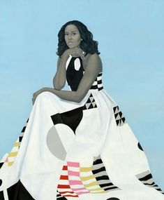 Official Presidential Portrait of First Lady, Michelle Obama, 44th FLOTUS. Revealed 02-12-2018.