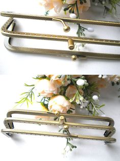 14CM Antique Metal Purse Frames With An Inside Frame