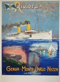 vintage cruise ship poster