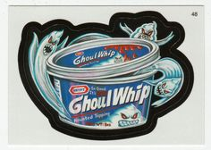 Wacky Packages All-New Series 2 # 48 Ghoul Whip Haunted Topping - Topps - 2005