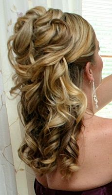 wedding hairstyles for medium length hair half up half down - Google Search