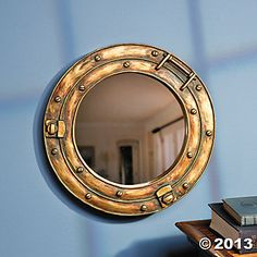 Nautical Ship Porthole Mirror Wall Decor by Fun Express for sale online Pirate Bathroom, Nautical Bathrooms, Ocean Bathroom, Porthole Mirror, Wall Mounted Mirror, Wall Mirror, Bedroom Themes, Bedroom Decor, Wall Decor