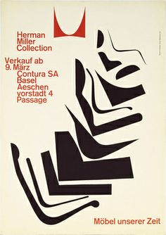 Möbel Unsere Zeit [poster By Armin Hoffman, Early Herman Miller]