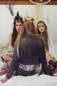 BOHO BEAUTY                                                           boho style fashion fringe jacket friends girls dream catcher