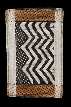 Africa | Twill Plaited Mat. Mbole/Mongo peoples, DR Congo | ca. 1970