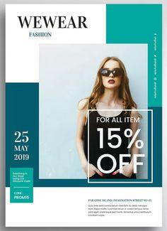 Female Fashion Promo Flyer by uicreativenet on Envato Elements Fashion Graphic Design, Japanese Graphic Design, Graphic Design Posters, Promo Flyer, Flyer Design Inspiration, Flyer Layout, Promotional Design, Instagram Design, Female Fashion