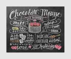 Chocolate Mousse Recipe - Print