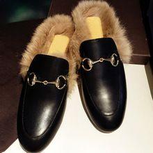 2016 Nuevo Diseñador de Zapatos Planos de Piel de Cuero Genuino Mujeres de Invierno Caliente de la Felpa F681 Señoras Mocasines Zapatos Del Holgazán de Moda de Alta Calidad