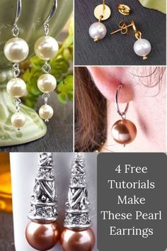 Make Beautiful Pearl Earrings for yourself