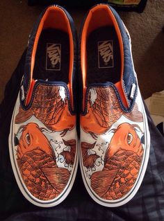 Vans Off The Wall Slip On Shoes COY (KOI) FISH, Men 9.5 / Women 11 Very Rare   199.00
