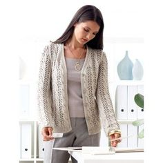 Free Intermediate Women's Cardigan Knit Pattern  So pretty!!