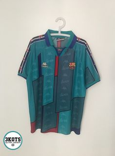 BARCELONA FC 1995 97 Away Football Shirt (XL) Soccer Jersey KAPPA Vintage  Maglia 41201608a