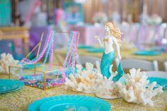 Mermaid & coral tabl