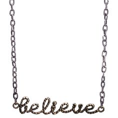Waxing Poetic Boutique Collection Scribbler Necklace Believe. #laylagrayce #necklace #gifts $110.00