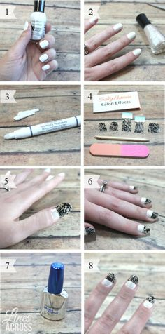 Photochamber.net - step bystep lace tip nail tutorial