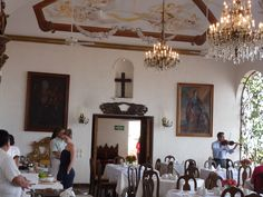 """Savouring Sunday brunch at the exquisite and romantic """"Hacienda San Angel"""" in Puerto Vallarta during February 2012"""