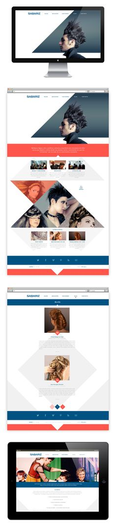 Web design / UI/UX Design, website SABARIZ HAIRTISTS