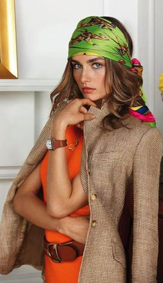 Ralph Lauren..I'm doing to do this Sofia Loren look this summer on the lake because it looks so fab!