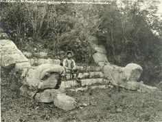 "archaeoart: ""Entrance to the Ossuary, Chichén Itzá, Mexico, circa 1895. """