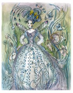Queen of Pentacles. Keywords:     Nurturing, Generous Kindhearted, Down-to-Earth, Resourceful, Trustworthy. Artwork: Paula Cassidy, Moon Gallery