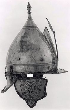 Chichak, a type of helmet (migfer) originally worn in the 15th-16th century by cavalry of the Ottoman Empire, consisting of a rounded bowl with ear flaps, a peak with a sliding nose guard passing through the peak, and an extension in the back to protect the neck. Various other countries used their own versions of the chichak including Mughal India, in Europe the zischagge helmet was a Germanisation of the original Turkish name.