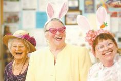 Applause and cheers rang out at the Douglas County Senior Center for participants in the annual Easter hat parade. Esther Hildebrand founded the parade more than 10 years ago as a way of bringing back an Easter tradition many seniors share.