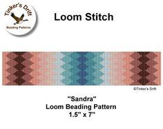 Loom Beaded Bracelet Pattern Sandra Loom Pattern by TinkersDrift