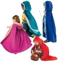 Think about using your flower girls as the three fairy God Mothers  of Princess Aurora / Briar Rose / Sleeping Beauty |  How Cute -   Princess DIY costume - cape